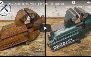 Schraubstock Restauration DIY