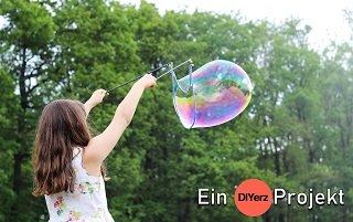 DIY Seifenblasenstäbe für XXL Seifenblasen