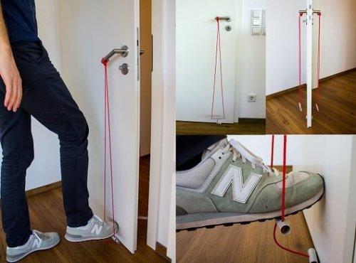 DIY Fußklinke - Türen öffnen und schließen ohne Hände